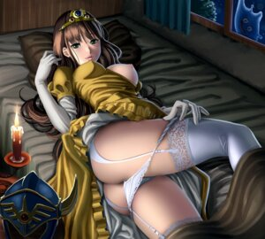 Rating: Questionable Score: 93 Tags: ass breasts dragon_quest dress erect_nipples nipples pantsu panty_pull pao_(otomogohan) stockings thighhighs undressing User: Mr_GT