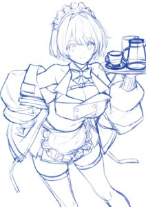 Rating: Questionable Score: 6 Tags: cleavage maid saitom sketch thighhighs User: Radioactive