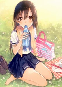 Rating: Safe Score: 57 Tags: feet horiizumi_inco nagomiya-san seifuku wet wet_clothes User: NotRadioactiveHonest