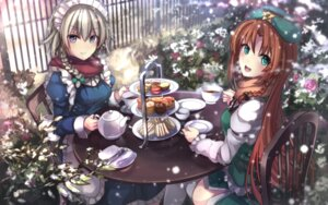 Rating: Safe Score: 39 Tags: hong_meiling izayoi_sakuya maid touhou zyanna User: Mr_GT