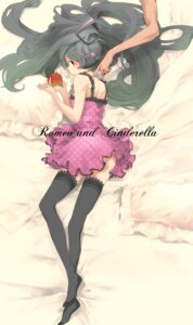 Rating: Safe Score: 8 Tags: dress hatsune_miku nansui_kinoko romeo_and_cinderella_(vocaloid) thighhighs vocaloid User: charunetra
