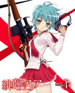 Rating: Questionable Score: 19 Tags: disc_cover gun headphones hidan_no_aria iwakura_kazunori reki_(hidan_no_aria) seifuku User: fireattack