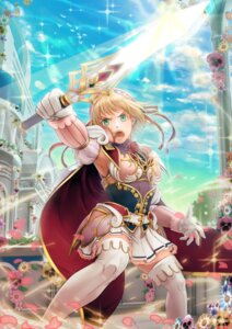 Rating: Questionable Score: 17 Tags: hayosena sword thighhighs torn_clothes User: charunetra