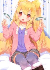 Rating: Safe Score: 18 Tags: animal_ears kitsune mutou_mato sengoku_kitan_muramasa_-miyabi- tagme tail thighhighs User: Radioactive