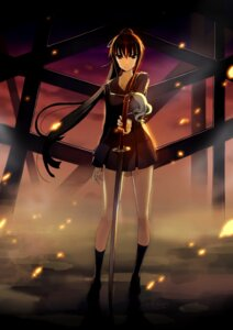 Rating: Safe Score: 28 Tags: ga-rei ga-rei_zero isayama_yomi leona48 seifuku sword User: Radioactive