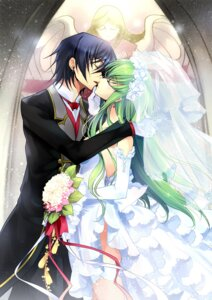 Rating: Safe Score: 45 Tags: c.c. code_geass creayus dress lelouch_lamperouge rangetsu wedding_dress User: Aurelia