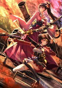Rating: Safe Score: 81 Tags: ayame_(kabaneri) bandages gun koutetsujou_no_kabaneri mumei swordsouls weapon User: SubaruSumeragi