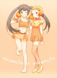 Rating: Safe Score: 19 Tags: arancia thighhighs valencia yuu_(plasm) User: anaraquelk2