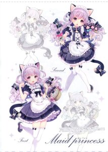 Rating: Questionable Score: 19 Tags: animal_ears heels maid nekomimi possible_duplicate tail thighhighs w.label wasabi_(artist) User: Radioactive