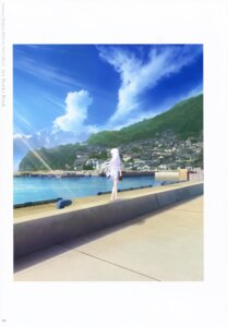 Rating: Safe Score: 12 Tags: key landscape na-ga naruse_shiroha seifuku skirt_lift summer_pockets summer_pockets_reflection_blue User: marechal