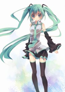 Rating: Safe Score: 13 Tags: hatsune_miku thighhighs vocaloid yamiya User: Mioka