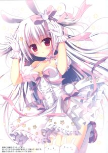 Rating: Safe Score: 37 Tags: animal_ears bunny_ears cleavage dress hasune hasuneya tail thighhighs User: kiyoe