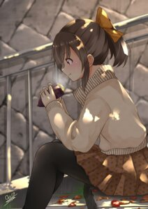 Rating: Safe Score: 27 Tags: hori_yuuko pantyhose sora_(silent_square) sweater the_idolm@ster the_idolm@ster_cinderella_girls User: Mr_GT