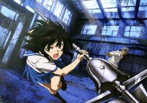 Rating: Questionable Score: 18 Tags: akatsuki_kojou himeragi_yukina possible_duplicate sano_keiichi seifuku strike_the_blood weapon User: drop
