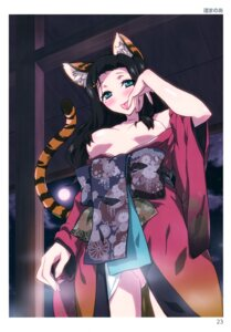 Rating: Questionable Score: 38 Tags: animal_ears breasts kimono nagisa_manoa no_bra nopan open_shirt tail toranoana User: abcdefh