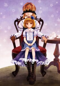 Rating: Safe Score: 19 Tags: alice_margatroid alice_margatroid_(young) fukahire_sanba touhou User: fireattack