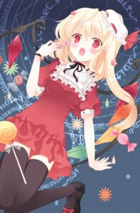 Rating: Safe Score: 47 Tags: flandre_scarlet huohai thighhighs touhou User: fireattack
