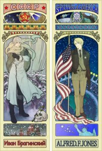 Rating: Safe Score: 6 Tags: america hetalia_axis_powers male mushi_kei russia User: Radioactive