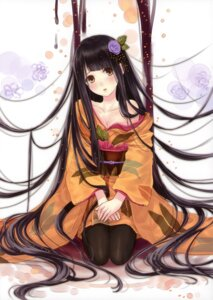 Rating: Safe Score: 103 Tags: boku_to_kimi_to_kakuusekai_to cleavage kazuharu_kina kimono pantyhose User: fireattack