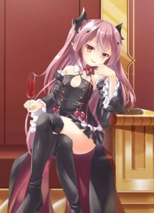 Rating: Safe Score: 88 Tags: amane_mafuyu_(artist) dress gothic_lolita heels krul_tepes lolita_fashion no_bra owari_no_seraph pointy_ears thighhighs User: Mr_GT