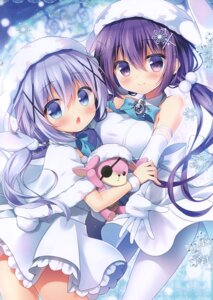 Rating: Safe Score: 19 Tags: dress gochuumon_wa_usagi_desu_ka? kafuu_chino pantyhose sasai_saji skirt_lift tagme tedeza_rize watakubi User: kiyoe