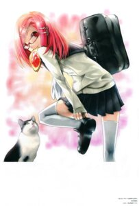 Rating: Safe Score: 18 Tags: kei megane nanako_(kei) neko seifuku User: Radioactive