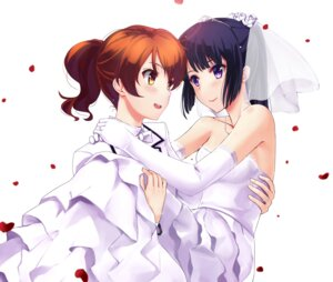 Rating: Safe Score: 54 Tags: crossdress dress hibike!_euphonium kousaka_reina mizuki_ame oumae_kumiko wedding_dress User: Mr_GT