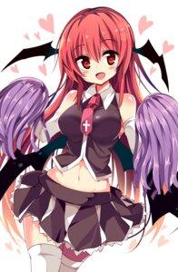 Rating: Safe Score: 69 Tags: cheerleader koakuma matsuri_uta thighhighs touhou wings User: KazukiNanako