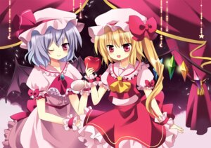 Rating: Safe Score: 11 Tags: flandre_scarlet mayo_(miyusa) remilia_scarlet touhou wings User: TassadaR
