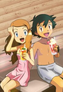 Rating: Questionable Score: 25 Tags: pokemon pokemon_xy satoshi_(pokemon) serena_(pokemon) towel User: PPV10