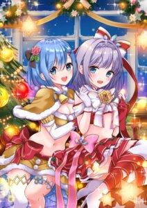 Rating: Questionable Score: 24 Tags: christmas cleavage crossover garter heels momono_aya pantsu re_zero_kara_hajimeru_isekai_seikatsu rem_(re_zero) shironeko_project thighhighs tina_(shironeko_project) yuri User: hiroimo2