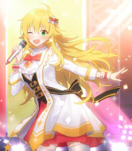 Rating: Safe Score: 16 Tags: fpanda hoshii_miki the_idolm@ster thighhighs uniform User: Arsy