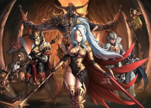 Rating: Safe Score: 32 Tags: armor horns leotard monster pantyhose saringongja sword thighhighs weapon wings User: Mr_GT