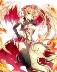 Rating: Questionable Score: 45 Tags: asian_clothes cleavage leilan_(p&d) puzzle_&_dragons thighhighs toba_ww wings User: mash