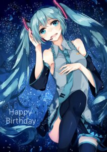 Rating: Safe Score: 22 Tags: hatsune_miku headphones rinarisa thighhighs vocaloid User: Mr_GT