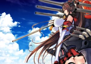 Rating: Safe Score: 41 Tags: erect_nipples kantai_collection mugensiki no_bra seifuku thighhighs umbrella weapon yamato_(kancolle) User: mash