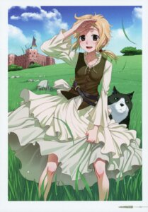 Rating: Safe Score: 9 Tags: koume_keito nora_arendt skirt_lift spice_and_wolf User: kiyoe