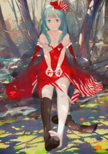 Rating: Safe Score: 43 Tags: cleavage dress jq kagiyama_hina open_shirt pantyhose torn_clothes touhou User: Mr_GT