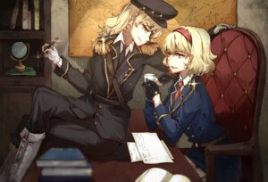 Rating: Safe Score: 26 Tags: aili_(aliceandoz) alice_margatroid kirisame_marisa touhou uniform User: charunetra