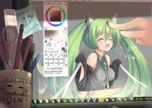 Rating: Safe Score: 41 Tags: animal_ears dreamlight2000 hatsune_miku nekomimi vocaloid User: fairyren