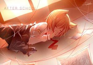Rating: Safe Score: 31 Tags: animal_ears autographed peneko seifuku User: A-chan