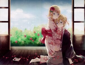 Rating: Safe Score: 42 Tags: domotolain feet kagamine_len kagamine_rin vocaloid yukata User: RICO740