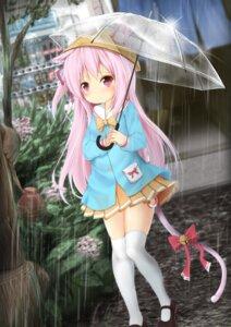 Rating: Safe Score: 53 Tags: animal_ears azur_lane kisaragi_(azur_lane) maru_shion tail thighhighs umbrella User: Mr_GT