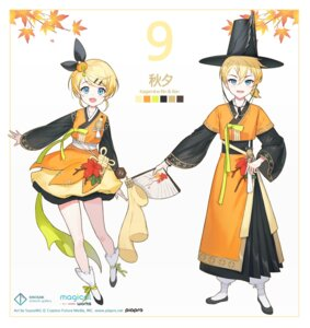 Rating: Questionable Score: 11 Tags: asian_clothes kagamine_len kagamine_rin skirt_lift tagme vocaloid User: Dreista