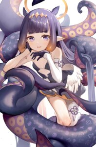 Rating: Questionable Score: 24 Tags: angel dampi dress hololive hololive_english loli ninomae_ina'nis no_bra pointy_ears tentacles thighhighs wings User: Mr_GT