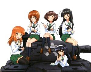 Rating: Safe Score: 32 Tags: akiyama_yukari girls_und_panzer isuzu_hana nishizumi_miho reizei_mako seifuku sugimoto_isao takebe_saori thighhighs User: Mekdra
