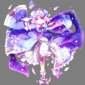 Rating: Safe Score: 6 Tags: aquamarine saigyouji_yuyuko touhou transparent_png User: charunetra