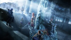 Rating: Safe Score: 26 Tags: armor bodysuit caius_ballad cg dress final_fantasy final_fantasy_xiii final_fantasy_xiii-2 lightning noel_kreiss paddra_nsu-yeul serah_farron square_enix sword thighhighs wallpaper User: Izuna