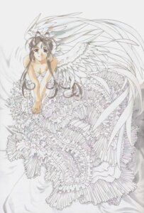 Rating: Safe Score: 10 Tags: ah_my_goddess belldandy dress fujishima_kousuke wings User: minakomel