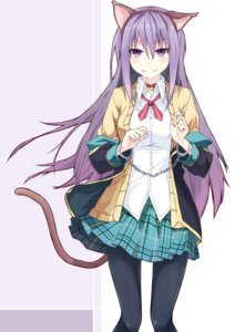 Rating: Safe Score: 32 Tags: animal_ears ex gj_bu nekomimi pantyhose seifuku sumeragi_shion tail User: Radioactive
